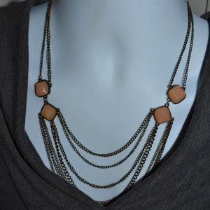 Jewelry - Vintage Multi-Strand Cabochon Statement Necklace
